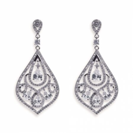 Ivory and Co Chinatown Art Deco Crystal Chandelier Earrings
