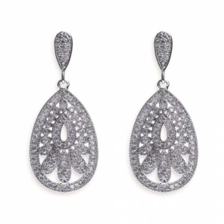 Ivory and Co Cosmopolitan Vintage Inspired Crystal Drop Wedding Earrings
