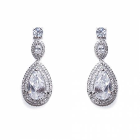 Ivory and Co Cotton Club Crystal Drop Wedding Earrings