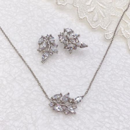 Ivory and Co Cypress Vine of Leaves Bridal Jewellery Set