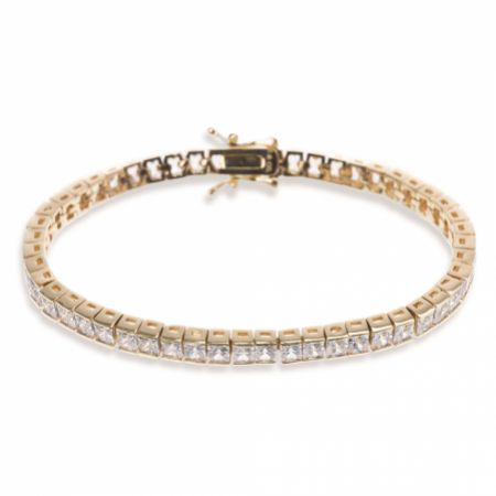 Ivory and Co Elegance Cubic Zirconia Wedding Bracelet (Gold)
