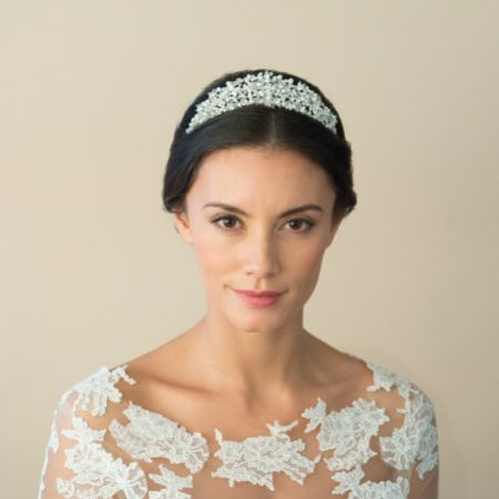 Ivory and Co Eternal Classic Pearl and Crystal Bridal Tiara