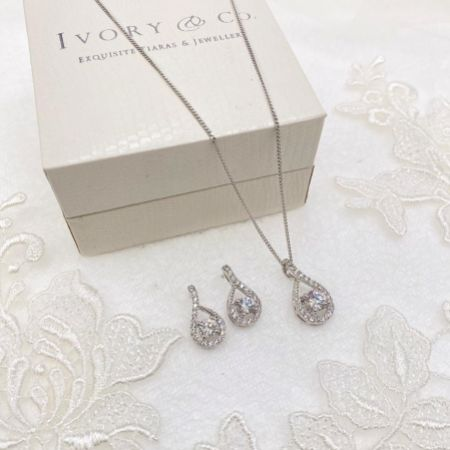 Ivory and Co Eternity Crystal Bridal Jewellery Set