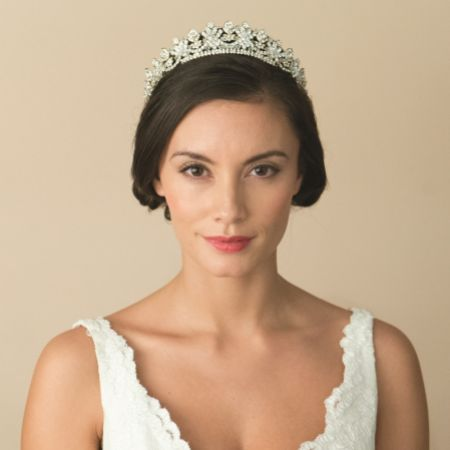 Ivory and Co Francesca Gold Crystal Embellished Bridal Tiara