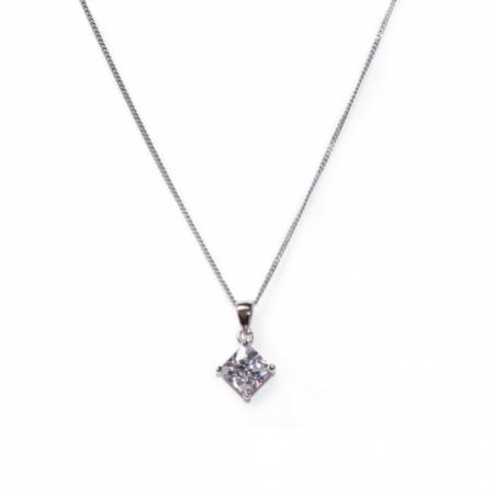 Ivory and Co Illusion Cubic Zirconia Pendant Necklace