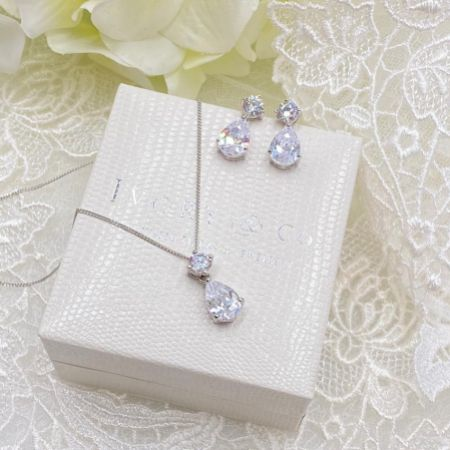 Ivory and Co Imperial Cubic Zirconia Bridal Jewellery Set