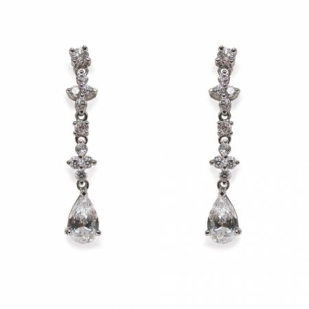 Ivory and Co Kensington Cubic Zirconia Wedding Earrings
