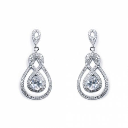 Ivory and Co Lexington Crystal Drop Wedding Earrings