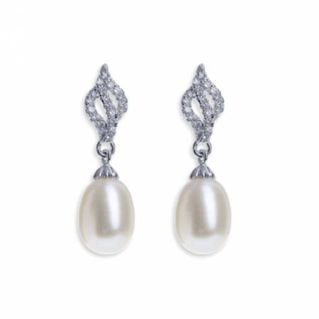 Ivory and Co Lisbon Pearl Drop Wedding Earrings
