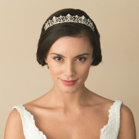 Ivory and Co Marion Gold Vintage Inspired Crystal Tiara