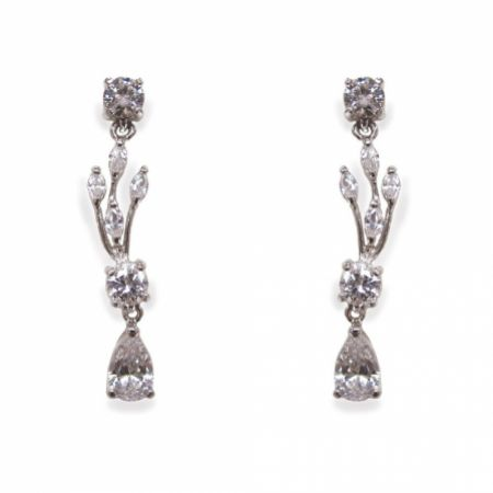 Ivory and Co Mayfair Vintage Inspired Crystal Drop Wedding Earrings