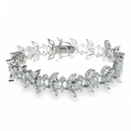 Ivory and Co Montague Crystal Embellished Wedding Bracelet