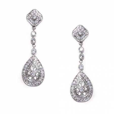 Ivory and Co Moonstruck Crystal Wedding Earrings