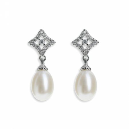 Ivory and Co Morocco Pearl Drop Wedding Earrings