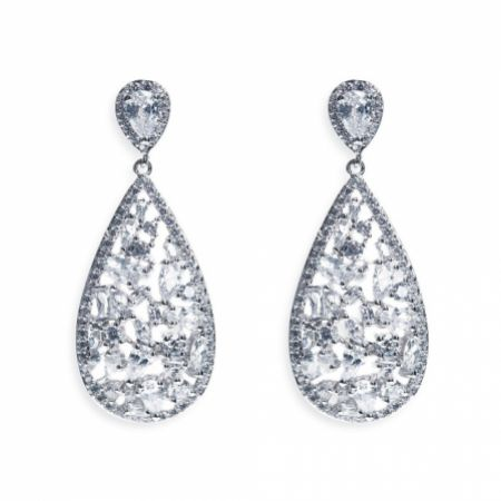 Ivory and Co Pasadena Crystal Teardrop Earrings