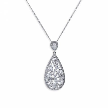 Ivory and Co Pasadena Crystal Teardrop Pendant Necklace