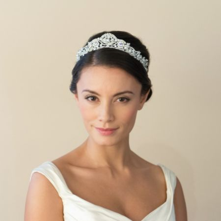 Ivory and Co Princess Mia Art Deco Crystal Embellished Wedding Tiara