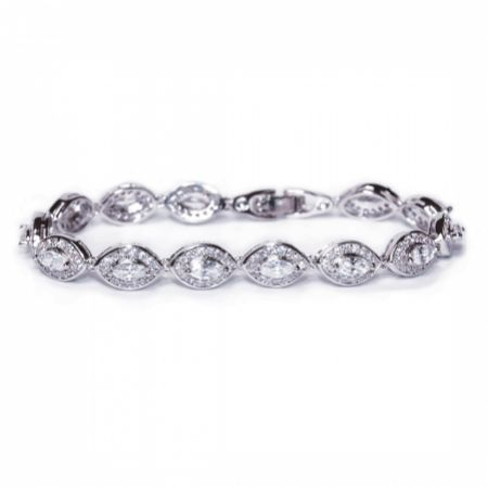 Ivory and Co Promise Cubic Zirconia Wedding Bracelet