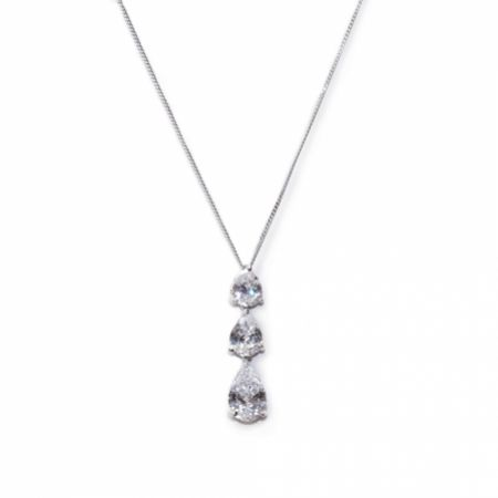Ivory and Co Purity Teardrop Crystal Pendant Necklace