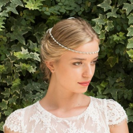 Ivory and Co Secret Promise Narrow Diamante Chain Headpiece