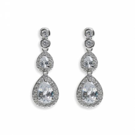 Ivory and Co Sorbonne Crystal Teardrop Wedding Earrings