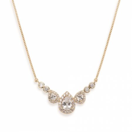 Ivory and Co Sorbonne Crystal Wedding Necklace (Gold)