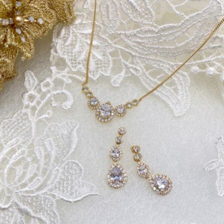 Ivory and Co Sorbonne Gold Bridal Jewellery Set