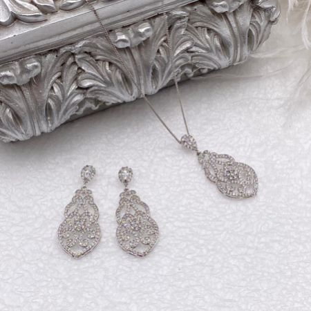 Ivory and Co Sorrento Vintage Bridal Jewellery Set