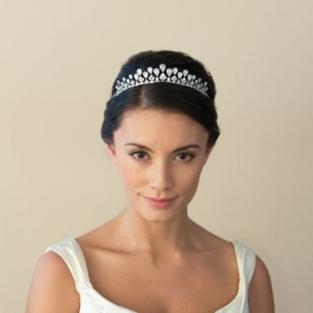 Ivory and Co Teardrop Vintage Inspired Crystal Bridal Tiara