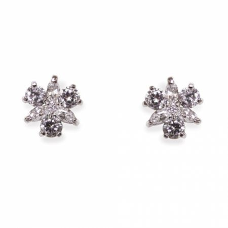 Ivory and Co Waterlily Crystal Stud Earrings