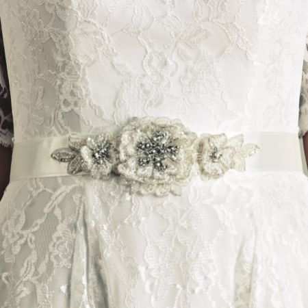 Joyce Jackson Dawlish Embellished Floral Wedding Dress Belt