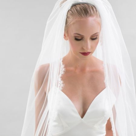 Joyce Jackson Orlando Single Tier Lace Edge Veil