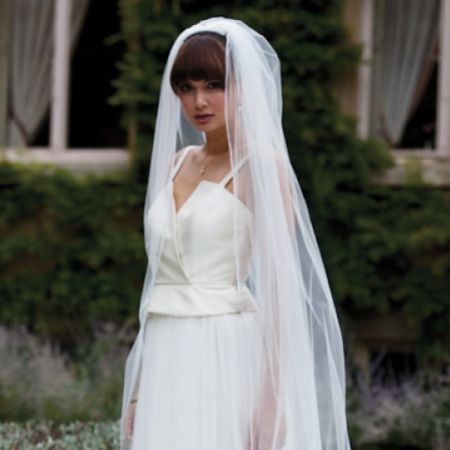 Joyce Jackson Zambia Single Tier Diamante Edge Veil