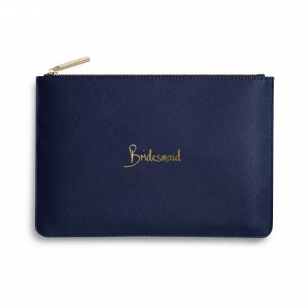 Katie Loxton 'Bridesmaid' Navy Blue Perfect Pouch