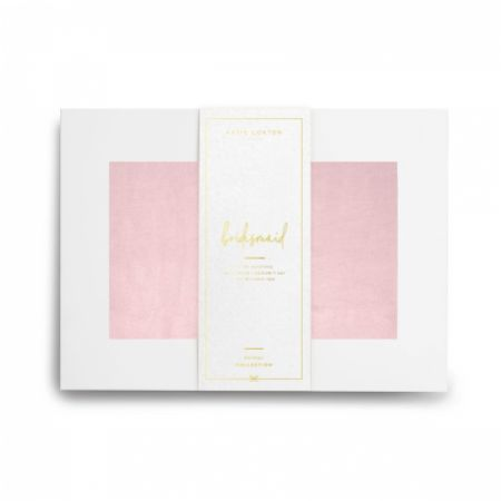 Katie Loxton 'Bridesmaid' Wrapped Up In Love Boxed Pale Pink Silky Scarf