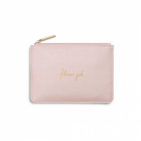 Katie Loxton 'Flower Girl' Metallic Pink Mini Perfect Pouch