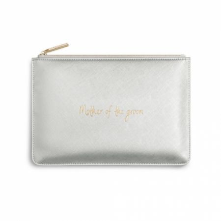 Katie Loxton 'Mother of the Groom' Metallic Silver Perfect Pouch