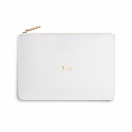 Katie Loxton 'Mrs' White Perfect Pouch