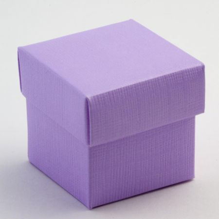 Lilac Silk Favour Box - Pack of 10