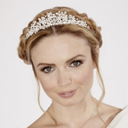 Linzi Jay Diamante and Crystal Bridal Tiara LT485