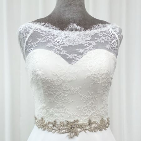 Marlowe Beaded and Crystal Vine Bridal Belt
