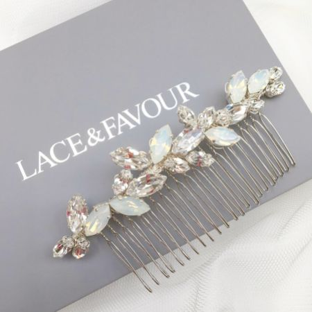Natalia Opal Crystal Wedding Hair Comb
