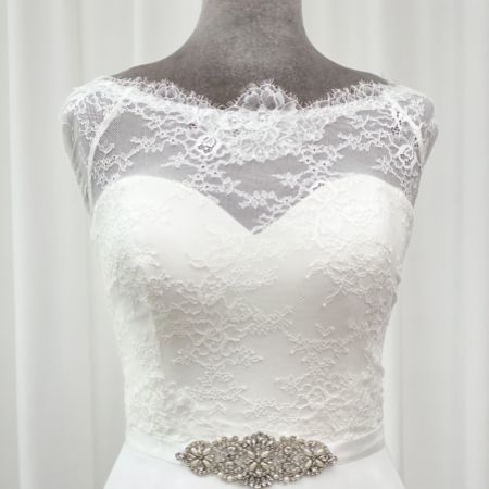Perfect Bridal Antonia Crystal and Pearl Wedding Dress Belt