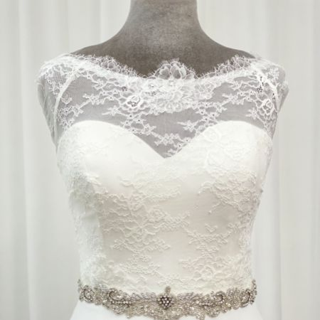 Perfect Bridal Elspeth Vintage Inspired Beaded Wedding Dress Belt