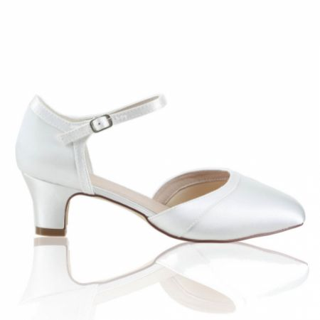 Perfect Bridal Ingrid Dyeable Ivory Satin Two Part Court Shoes