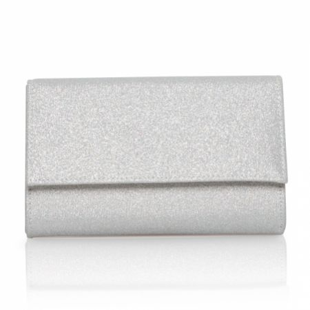 Perfect Bridal Lola Silver Shimmer Clutch Bag