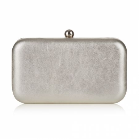 Rachel Simpson Coco Gold Leather Clutch Bag