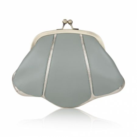 Rachel Simpson Mia Mint Leather Vintage Clutch Bag