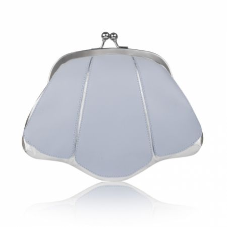 Rachel Simpson Mia Powder Blue Leather Vintage Clutch Bag