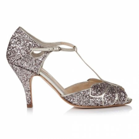Rachel Simpson Mimosa Quartz Glitter Vintage T-Bar Shoes